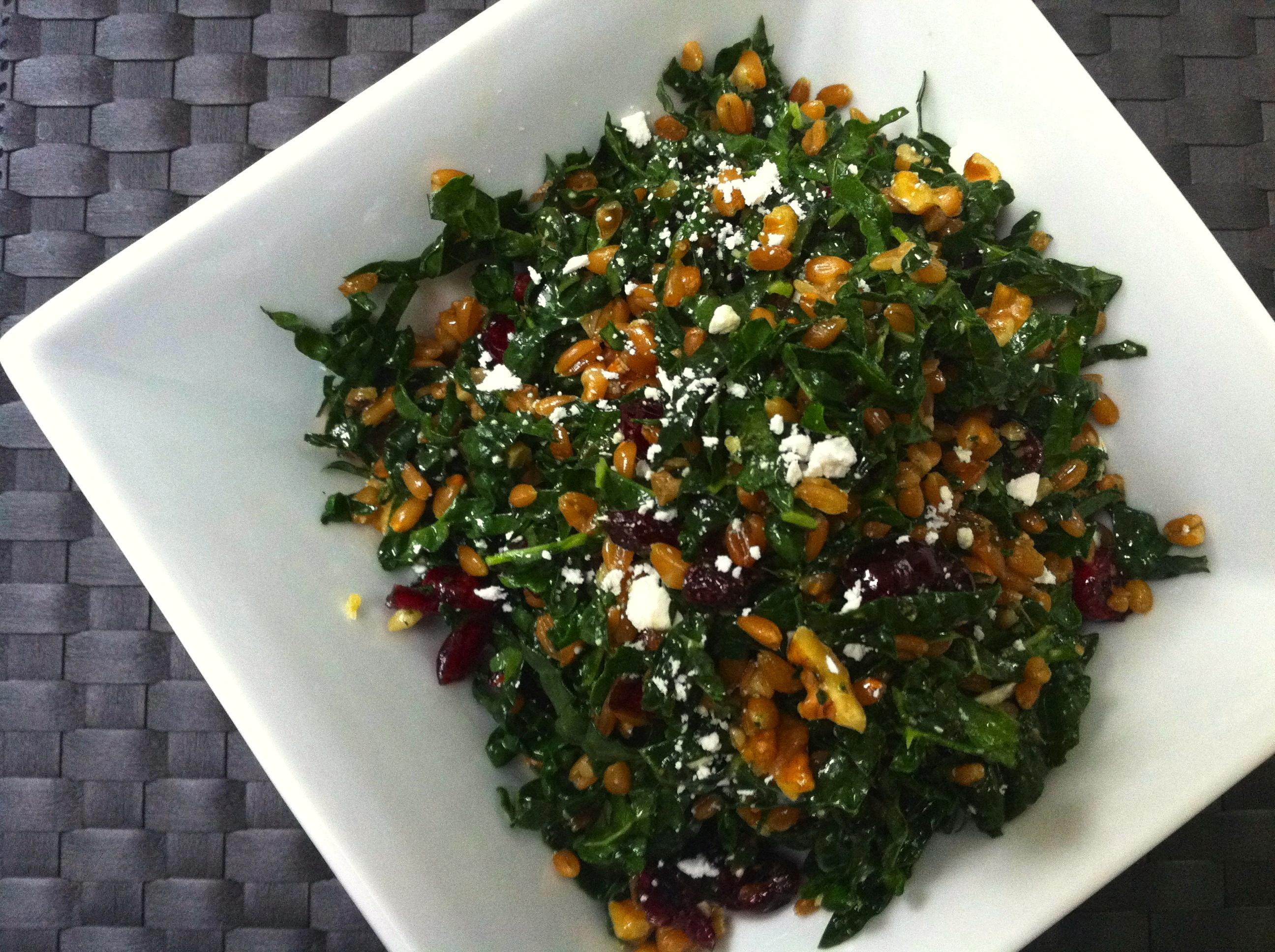 Lacinato Kale Salad With Roasted Squash Recipe — Dishmaps